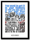 ARCTIC MONKEYS - Fluorescent Adolescent - song lyric poster art print - 4 sizes