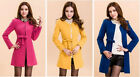 New Popular Womens Slim Winter Worsted Long Coat Warm Overcoat Coat Tops