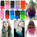Woman's Gradient Colorful Wavy Hair Pieces 5 Clip-in Hair Extensions Wigs KAP16