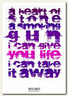 BLOC PARTY - Banquet - song lyric poster typography art print - 4 sizes