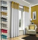 SHERI MODERN FAUX SILK LINED EYELET CURTAINS - Various Sizes & Colours