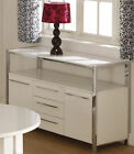 Charisma High Gloss & Chrome 2 Door 3 Drawer Sideboard In Black And White