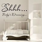 SHHH Baby Dreaming Wall Art Sticker Nursery Baby Boy Girl Bedroom GiftTransfer