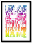 U2 - Where The Streets Have No Name - poster typography art print - 4 sizes