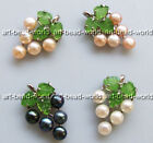 variations color 6mm freshwater pearl maple leaf shape white gold plated pendant