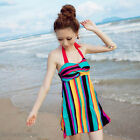 Rainbow Exotic Halter Padded One Piece Swimdress Swimsuit Bathing Suit SW492
