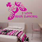 IRISH DANCING Wall Sticker Ghillies Girls Bedroom Transfer Art Gift Birthday