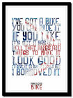 PINK FLOYD - Bike - song lyric poster ❤ typography art print - 4 sizes