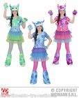 COSTUME MONSTER GIRL tipo monster high CM 128 CARNEVALE HALLOWEEN PARTY 01606