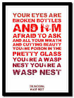 THE NATIONAL - Wasp Nest ❤ song lyric poster typography art print - XL 4 sizes