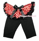 XMAS Minnie Tutu Black Legging Black Bow Dress Pettiskirt Long Pants Tight 1-7Y
