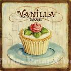 RETRO METAL PLAQUE :VANILLA cupcakes sign/Ad