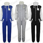 Unisex Mens Womens Baseball Zip Onesie Playsuit All In One Piece Jumpsuit M L XL
