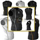 Mens Compression Base Layer Top Skin Tight Sleeveless Sports Tank Tesla T-Shirt