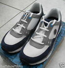 BNIB Clarks BOOTLEG Older Boys Suede + SyntheticTrainers  Navy + White