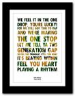 ❤   BOB MARLEY One Drop   ❤ song lyric poster typography art print - 4 sizes