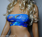 BLUE FISH LYCRA STRAPLESS BOOB TUBE CROP BANDEAU TOP PARTY CLUB BEACH DANCE B18