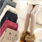 Lovely Embroider Knee Sole Cats Tattoo Pantyhose Warm Tights Colorful