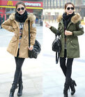 Womens Thicken Fleece Fur Warm Coat Womens MD-Long Outerwear Jacket