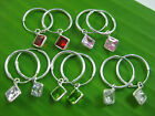 """925 Sterling silver """"5 colour"""" 14mm sleepers CZ SQUARE CHARM EARRINGS -TEEN GIRL"""