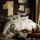NILE EXPRESS Beige - 3 Pce Quilt Cover Set by Linen House - QUEEN KING Eurocases