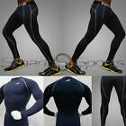 Mens Dark Blue Winter Sports Compression Set Under Layer Top Pants Long Take 5
