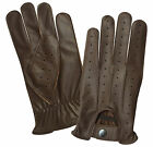 NEW TOP QUALITY REAL SOFT LEATHER MENS DRIVING FASHION GLOVES RETRO BROWN 7011