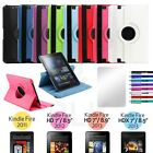 For Amazon Kindle Fire HD 7 /8.9 HDX Rotating Leather Case Cover Stand Accessory
