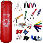 TurnerMAX Punch Bag Red 4FT Strike Kick Boxing Punching Bags Martial Arts Fight