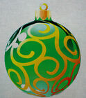 "Needlepoint canvas ""Christmas Ornament Green and Gold"""