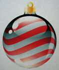 "Needlepoint canvas ""Christmas Ornament sripes"""