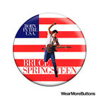 """Bruce Springsteen """"Born In The U.S.A."""" Pin Button Badge Fridge Magnet"""