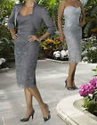 Short Mother of the Bride Dresses With Free Jacket UK Size 8+10+12+14+16+18