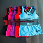 Lot Women's Seamless Stretch Fitness Yoga Workout Sports Bra Shorts MIX
