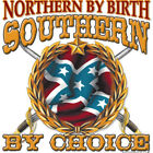 "Dixie Rebel Southern "" SOUTHERN BY CHOICE "" 50/50 Gildan/Jerzees T SHIRT"