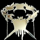 Laser cut acrylic large statement Princess Snow White necklace black or silver