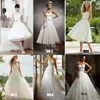 Stock Size White/Ivory Long/Short Wedding Dress Bridal Gown 6 8 10 12 14 16 +++