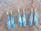 Handcrafted Stone Mosaic Inlay Earrings Made in Mexico Your Choice NEW me176
