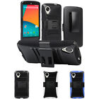 Belt Clip Holster Cover Rugged Hybrid Hard Kick-Stand Case For LG Google Nexus 5