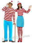 WHERE'S WALLY? MENS WOMENS 1980'S CARTOON CHARACTER FANCY DRESS COSTUMES
