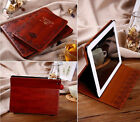 Mosso@ Vintage Retro Leather Case for iPad Mini 1/2/3 Stand Cover And Film - HQ