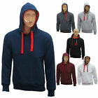Mens Plain Fleece Hoodie Hoody Hooded Top Pull Over Sweatshirt Size S M L XL XXL