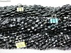 Healing Natural MAGNETIC Black Hematite Gemstone Bicone Beads 16'' 6mm 8mm 12mm