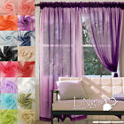 New Elegant Sheer Voile Net Curtains Organza Fabric Window Curtains 136cm Wide
