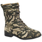 FOREVER SUSANA-52 Women's Hot Fashion Lace Up Front Combat Style Mid-Calf Boots