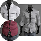 Burst Sells NWT PJ Mens Casual Slim fit Luxury Stylish Formal Dress Shirts Tops