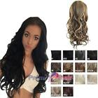 Big volume Glam wave curl instant Hair Fall Half Wig Various colours