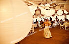 2x 5x 10x Round White Paper Lanterns + LED Light Wedding Party Decoration Supply