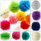 "20X Tissue Paper Color 4"" 8"" 12"" pom pom Flowers Wedding Party Craft Decoration"