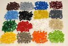 LEGO COLORED 1 X 1 FINISHING TILES SMOOTH GROOVE BRICKS BUILDING BLOCKS YOU PICK